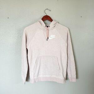 Nike Size S Small Heather Pink Long Sleeve Hooded Sweatshirt Women's