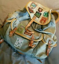 Vintage rucksack pack hiking bushcraft YHA scout patches army bag canvas 50s 60s