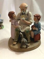 Norman Rockwell Toymaker Figurine Porcelain 1980 Collector's Club Annual Edition