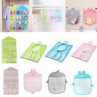 Mesh Storage Organizer Bag Over Door Hanging Bag Durable Pocket Hanger Bathroom