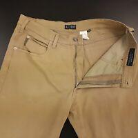 ARMANI Mens Light Summer Trousers Jeans W35 L34 Beige Regular Fit Straight