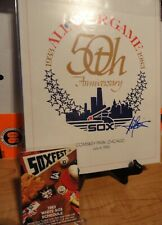 1983 All Star Game Program Comiskey 50th Anniversary AUTOGRAPHED HAROLD BAINES