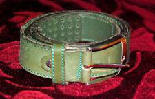 GP & Max Original Italian Mens Leather Belt Green
