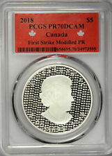 2018 CANADA $5 SILVER MAPLE LEAF MODIFIED PROOF - FIRST STRIKE PCGS PR70DCAM!