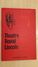 THEATRE ROYAL LINCOLN 1964: JAMES HILEY & ELIZABETH AYLMER in THE FIRE RAISERS