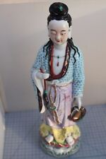 20th C. Chinese Famille-Rose Porcelain Figure of  GuanYin 49cm