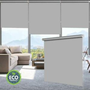 100%Blackout Waterproof Fabric Window Roller Shades,Thermal Insulated,UV Protect