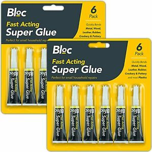 12 Super Glue Extra Strong Premium Quality Adhesive Plastic Rubber Leather