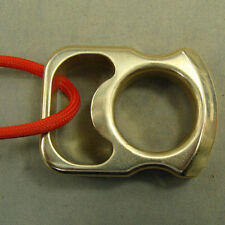 Solid brass self defense EDC survival escape tool hammer bottle opener + lanyard