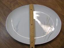 Vintage Platinum Wheat Platter Japan- Very Good Condition