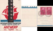 Belgium 1930 Card fro International Expo at Antwerpen Martime  Flemish Art.
