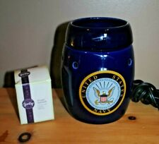 Scentsy United States Navy Full Size Warmer with new bulb   HTF