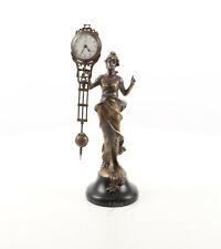 Pendeluhr Antik Stil Bronze Uhr Kaminuhr Mysterieuse Figurenuhr Mystery Clock