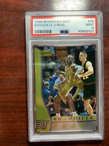 1997-1998 Bowmans Best Shaquille O'Neal Lakers #70 Basketball PSA 9 PMJS 23