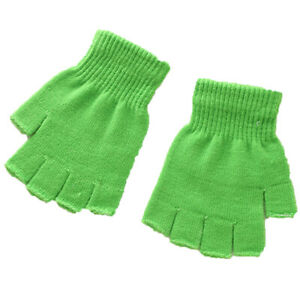 Unisex Soft Half Fingerless Gloves Women Men Warm Knitted Mittens Couple Winter