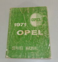 Workshop Manual/Service Manual Opel Gt 1900+ Rekord C From 1971