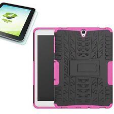 HIBRIDO exteriores Bolsa FUCSIA PARA SAMSUNG GALAXY TAB S3 9.7 t820+0,4
