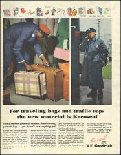 Vintage ad for B.F. Goodrich Koroseal Material raincoats luggage retro   072417