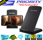 Qi Wireless Fast Charger Charging Stand Dock Pad for Samsung iPhone Android Moto