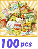Japanese Puffed Snack Box set 100 pcs Dagashi Assortment