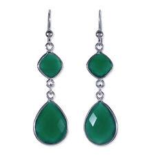 Onyx Hook Drop/Dangle Fine Earrings