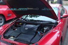03-11 Mazda RX-8 SE3P RX8 Black Strut Gas Lift Hood Shock Stainless Damper Kit