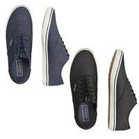 Jack & Jones Mens Lace Up Canvas Shoes Smart Casual Plimsolls Trainers Pumps