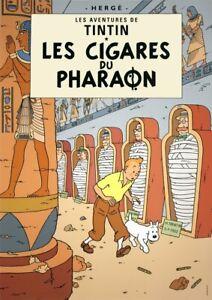 HERGE Les Aventures de Tintin: Les Cigares du Pharaon 27.5 x 19.5 Poster