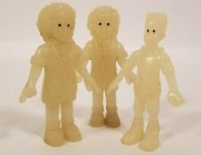 Burger King Kids Meal Toy Glow in the Dark  I/Q jaw Figures lot of 3 1995 Glo Fo