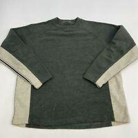 Columbia Fleece Pullover Sweater Men's Size 2XL XXL Long Sleeve Green Tan