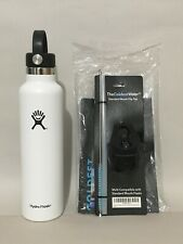 Hydro Flask 24oz Standard Mouth White w/ Flip Top Straw Insulated Water Bottle