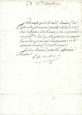 154-AUTOGRAPHE-DUC DE CHOISEUL-PROVENCE-DORIA-1790