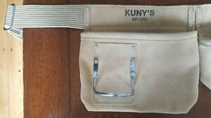 *QUALITY* KUNY'S AP-1300 Carpenters Apron 5 Pocket Suede Leather Tool Pouch Belt