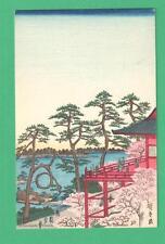 VINTAGE ANDO HIROSHIGE 1797-1858) JAPANESE ART POSTCARD KIYOMIZUDO TEMPLE