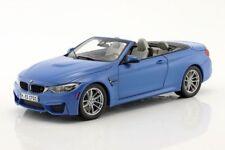 BMW DEALER MODELS M6 & M4 Cabriolet diecast model cars silver grey blue 1:18th
