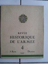 Revue Historique de l'Armée 1947 volume 4