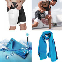 Training Cooling Towels Mens Shorts For Gym Training Outdoor Sports Activities