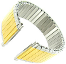 16-22mm Hadley Roma Micron Plate Stainless Two Tone Twist O Flex Watch Band 7747