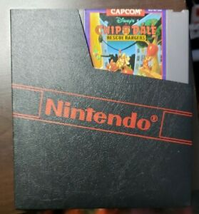 Chip 'n Dale Rescue Rangers NES Game Tested Works  Nintendo Case Holder Included
