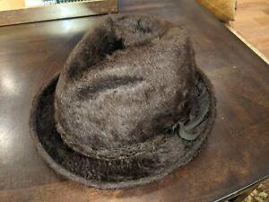Vintage Biltmore Beaver Blend Fur Hat Brown Size 7 3/8 Made in Canada