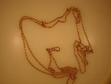 NICE LADYS NECK CHAIN FOR POCKET WATCH YGP24 INCHES SLIDE AND CATCH