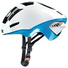 uvex EDAERO aero road cycling helmet white blue shiny 53-57