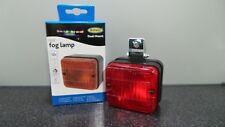 Universal 12v Car/Van/Trailer Approved Square Rear Red Fog Light/Lamp Easy Fit.