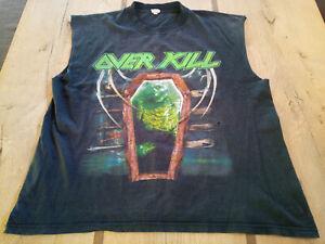 Overkill OG Fuck You Shirt RAR Sleeveless Exodus Anthrax Pantera Slayer Vintage