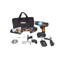 WORX WX949L 20V Powershare AI Drill & WORXSAW Combo Kit