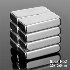8pcs 20x10x5mm Neodymium Rare Earth N52 Super Strong Cuboid Fridge Block Magnet