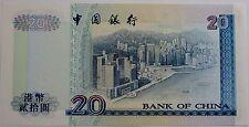 "BILLETE ""    HONG KONG   ""  20 DOLARES   AÑO 1994 SERIE AS   UNC   PLANCHA"