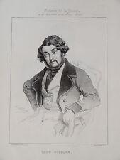 Portrait Léon GOZLAN LITTERATURE MARSEILLE ROMANTISME XIXe BALZAC JUDAICA 1840