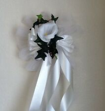 White Wedding Pew Bows With CALA Lily Set Of 20