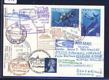 52356) LH FF Francoforte-Edimburgo GB/UK 28.3.99, Card SP Malta viaggio 369+376
